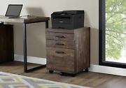 Monarch Specialties 3 Drawer File Cabinet - Filing Cabinet Brown - I 7400