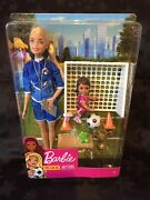 Barbie 'you Can Be Anything... Football Soccer Coach Doll', New In Box