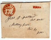 Upper Alton Il Madison 1835-1912 Stampless Folded Letter To Mulberry Grove Il