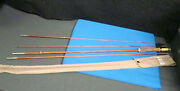 Vintage 1940's South Bend - 9 1/2' Bamboo Fly Rod 3 Pieces W/orig. Cloth