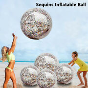 Sequin Beach Ball Pool Toys Balls Giant Confetti Glitter Inflatable Clear