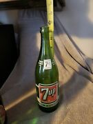 Old Vintage 7-up Acl Pop Bottles Family Size