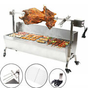 46and039and039 Large Spit Roaster Rotisserie Pig Lamb Roast Bbq Picnic Outdoor Cooker