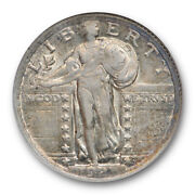 1921 25c Standing Liberty Quarter Anacs Au 55 About Uncirculated Key Date