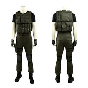 Resident Evil 3 Carlos Oliveira Full Set Outfit Cosplay Costume Halloween +shoes
