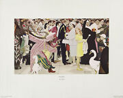 Norman Rockwell Rare Vintage 1973 Circle Gallery Collotype Litho Saturday People
