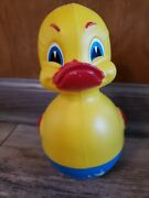Vintage 1960s Rolly Toys German Wobble 8 Yellow Duck