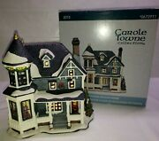 Retro 2015 Lemax Carole Towne Patterson Holiday Home Porcelain Lighted House
