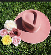 Lack Of Color Hat Rancher Fedora Rose Nwt Size Medium Sold Out