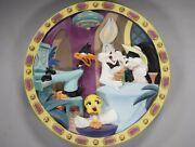 3rd Dimension Warner Bros 1995 Loony Tunes Collectible Plate Limited 540/2500