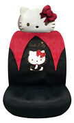 Hello Kitty 2 Cute Full Front Seats And Head Covers Car Truck Red Black Color