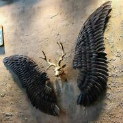 [mgt]retro Industrial Wind Decoration Wall Hanging Iron Angel Wing Wall