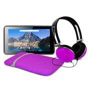 Ematic 7-inch Android 7.1, Quad-core 16gb Tablet, Bundle - Purple