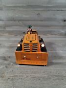 Very Rare Vintage Tin Battery Operated Bulldozer M-822 With Lights And Box As Is