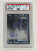 2019 Topps Clearly Authentic Fernando Tatis Jr. Black Auto /75 Rookie Psa 9 Rc