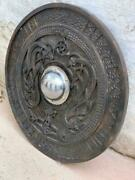 Medieval Viking Shield With Carved Norse Runic Ornaments Shield Celtic Ornament