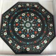 2and039x2and039 Black Marble Center Coffee Table Top Antique Home Inlay Multi Malachite Hp