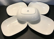 5 Dishes Alessi Delta Airlines White Rectangular Bowl Dish Tray 044207793