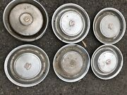 1970s Cadillac Hubcaps X 6
