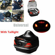 Motorcycle Scooter E-bikes Trunk Box Storage Case With Tail Light Universal Fit