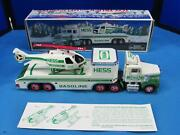 Vintage 1995 Hess Toy Truck And Helicopter W/ Original Box