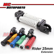 Mgrip Cnc 25mm Ajustable Front Foot Pegs Fit Ducati 848 R Evo 08-13 09 10 11 12