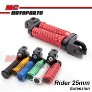 Mgrip Cnc 25mm Ajustable Front Foot Pegs Fit Ducati Streetfighter 848/s 12-14 13