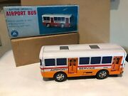 Rare Boxed Tin / Plastic Toy Alps Japan Airport Bus Battery Operated