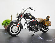 1/6 Vintage Harley Fat Boy Motorcycle Diecast Desk Model Decor Toy Collectible
