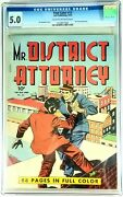 Four Color 13 Mr. District Attorney, 1942, Cgc Graded @ 5.0