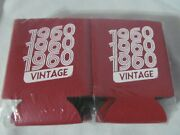 Vintage 1960 Beer/soda Can Koozie Insulated Cooler Coozies Holder Lot Of 12 -new