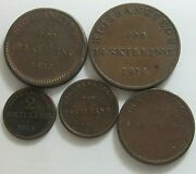 Denmark Set Of Five Coins, C94, 95 And 97,98,99