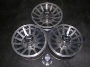 1987-1988 Jeep Grand Wagoneer Factory 15 X 7 Wheels Charcoal Silver 3 + 4 Caps