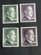 Adolph Hitler Third Reich 4 Stamp1942-1944mint And Usedsee Photos/descriptio