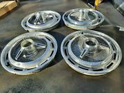 1965 Unique Impala Ss Super Sport Hubcaps Wheel Covers Tri-bar Spinners Caprice