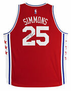 76ers Ben Simmons Authentic Signed Red Adidas Swingman Jersey Uda Bam55872
