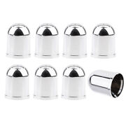8pcs 50mm Chrome Car Trailer Tow Ball Bar Protector Cover Towing Hitch Cover