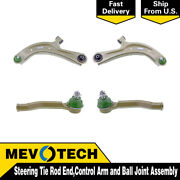 Mevotech 4 Front Tie Rod End Control Arm Ball Joint For 2013-2018 Nissan Sentra