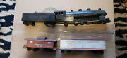 4 Pc Set Of Wooden Train Set With Caboose Vintage Model 1940's