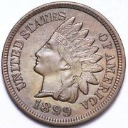 1899 Indian Head Cent Penny Choice Unc Free Shipping E544 Act