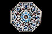30 White Marble Stone Inlay Coffee Dining Table Top Home Decor Antique