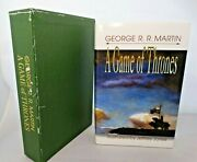 Rare George R.r. Martin A Game Of Thrones Signed Hardcover 2000 448 Copies