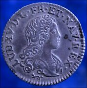 Louis Xv 1720 6 Livres France Ancient Coin Silver Colonial Money Compagnie Indes