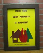 New Jersey Forest Fire Service Old Ad Sign Make Sure Your Property Is Fire-safe