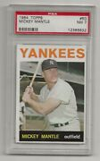 1964 Topps 50 Mickey Mantle New York Yankees Psa 7 Near Mint Nm