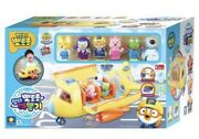[pororo] Flying Airplane Role Play Toy Set 20 Melody Light With 6 Figure Toys