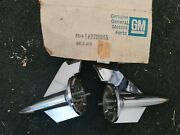 New Old Stock 1957 Chevy Hood Rocket Pair Nos Gm 3738985