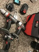 Porter Cable 18v Cordless Tool Set 3 Tools, 1 Battery, 1 Charger And 1 Tool Bag