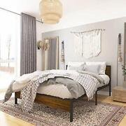 Queen Size Bed Frame With Wood Headboard Solid Wood Beds Brown For Adults