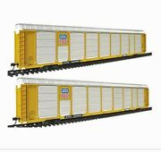 Walthers 932-24882 Gold Line Thrall 89' Tri-level Auto Carrier 2pk Union Pacific